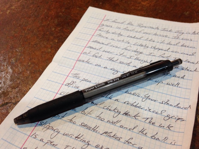 i found your pen � paper mate inkjoy � the cramped